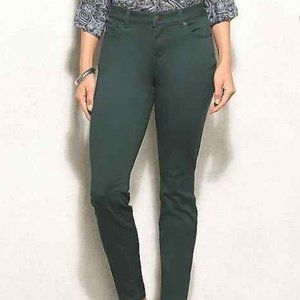 All Day Stretch 24W Plus Green Straight Jeans